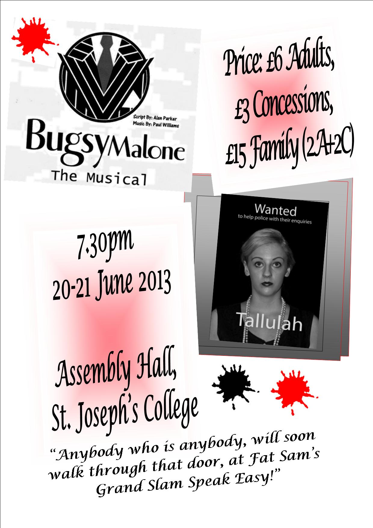 Bugsy Malone Poster Bugsy Malone Poster